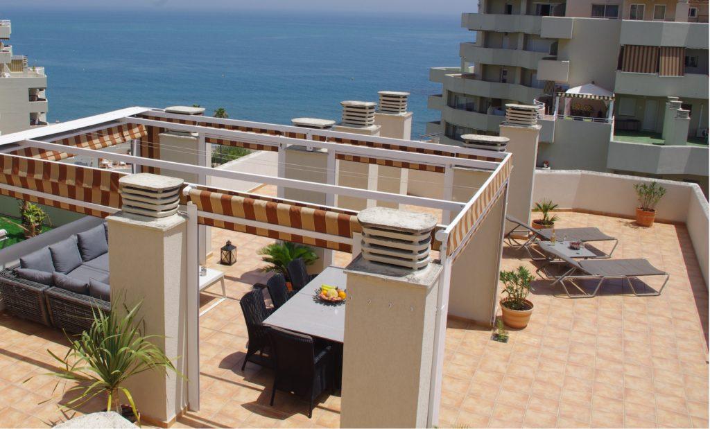 Oversigt over terrassen