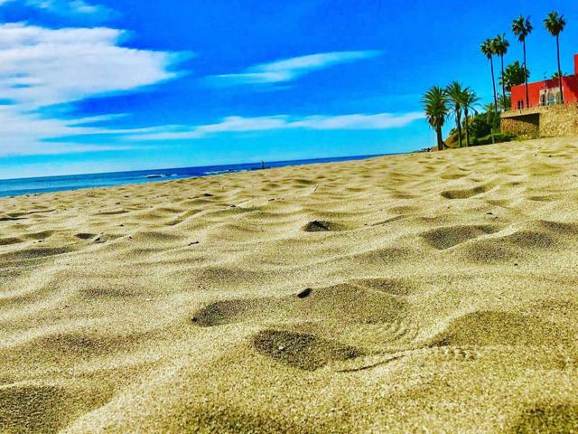 Fin strandsand ved Santa Ana strand
